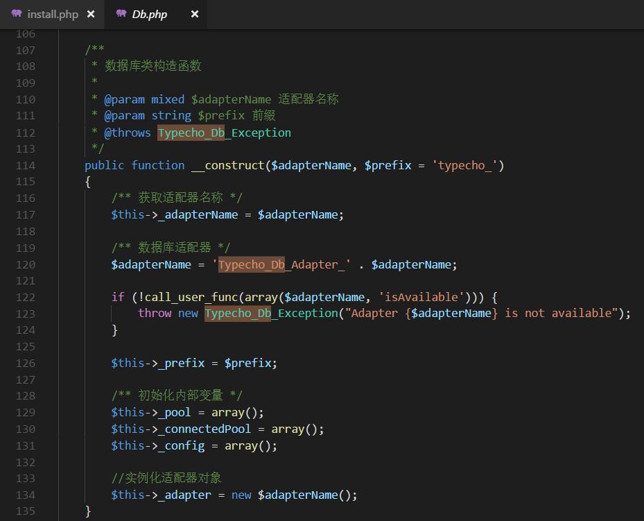 2018102918160-PHP反序列化漏洞详细教程及实例(下)-Typecho-反序列化漏洞分析-db-php-构造函数